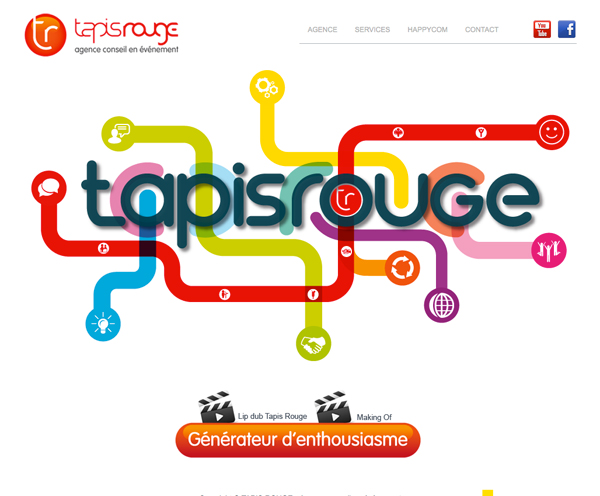 Tapis rouge : Cru00e9ation du site web - Site vitrine - Ju00e9ru00f4me Lebleu ...